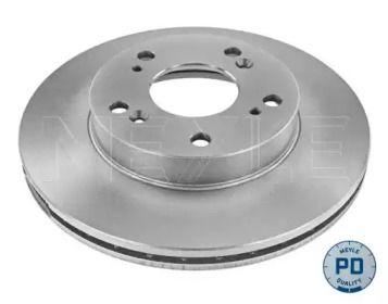 Вентилируемый передний тормозной диск на Хонда ЦРЗ 'MEYLE 31-15 521 0049/PD'.