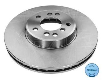 Вентилируемый передний тормозной диск на BMW X3 'MEYLE 315 521 0019'.