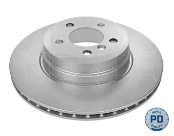 Вентилируемый задний тормозной диск на БМВ Х6 'MEYLE 315 523 0025/PD'.