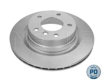 Вентилируемый задний тормозной диск на BMW 2 'MEYLE 315 523 0031/PD'.