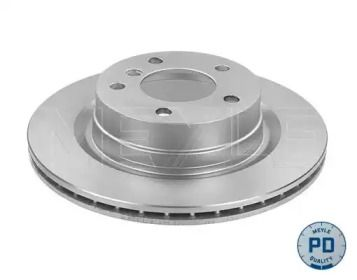 Вентилируемый задний тормозной диск на БМВ 2 'MEYLE 315 523 0049/PD'.