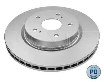 Вентилируемый передний тормозной диск на SUZUKI GRAND VITARA 'MEYLE 33-15 521 0017/PD'.