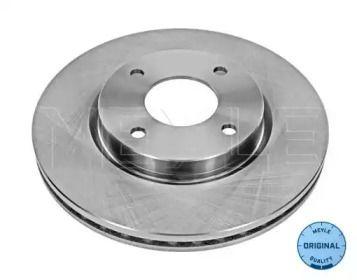 Вентилируемый передний тормозной диск на Ниссан Куб 'MEYLE 36-15 521 0052'.