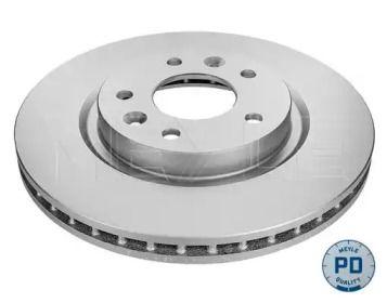 Вентилируемый передний тормозной диск на Рено Каджар 'MEYLE 36-15 521 0074/PD'.