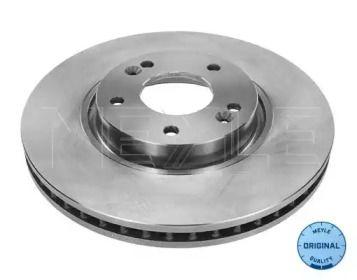 Вентилируемый передний тормозной диск на HYUNDAI I40 'MEYLE 37-15 521 0030'.