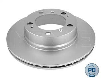 Вентилируемый задний тормозной диск на PORSCHE BOXSTER 'MEYLE 483 523 0001/PD'.