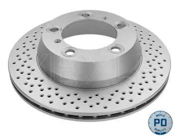 Задний тормозной диск на Порше 718 'MEYLE 483 523 0009/PD'.