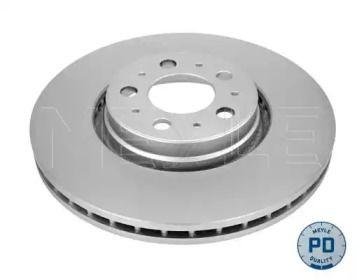 Вентилируемый передний тормозной диск на VOLVO XC90 'MEYLE 583 521 5024/PD'.