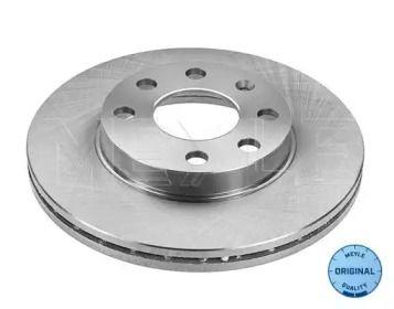 Вентилируемый передний тормозной диск MEYLE 615 521 6011.