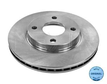 Вентилируемый передний тормозной диск на Форд Фьюжн 'MEYLE 715 521 7002'.