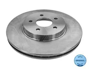 Вентилируемый передний тормозной диск на JAGUAR X-TYPE 'MEYLE 715 521 7019'.