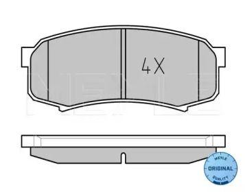 Задние тормозные колодки 'MEYLE 025 219 4715/W'.