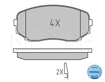 Переднї гальмівні колодки на MAZDA CX-9 MEYLE 025 245 4417/W.