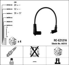 Високовольтні дроти запалювання на MAZDA RX-8 NGK 44318.