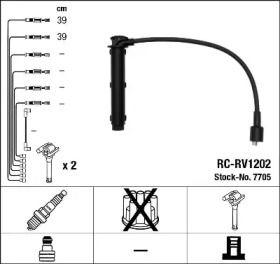 Високовольтні дроти запалювання на Ровер 25  NGK 7705.