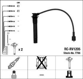 Високовольтні дроти запалювання на ROVER 25  NGK 7706.
