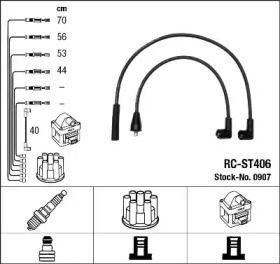 Високовольтні дроти запалювання 'NGK 0907'.