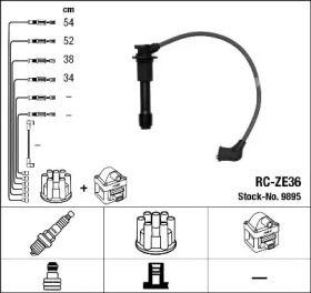 Високовольтні дроти запалювання на MAZDA MX-3 NGK 9895.
