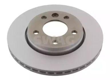 Вентилируемый задний тормозной диск 'SWAG 30 92 8682'.