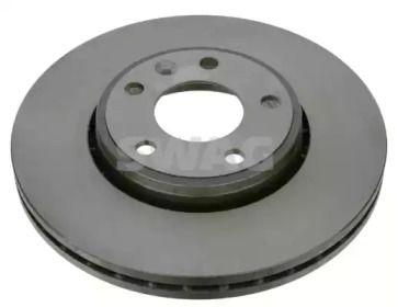 Вентилируемый передний тормозной диск 'SWAG 60 92 2698'.