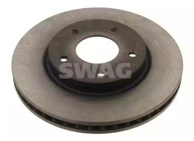 Вентилируемый передний тормозной диск 'SWAG 80 93 1275'.