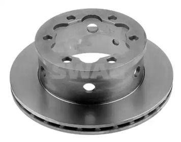 Вентилируемый задний тормозной диск 'SWAG 99 91 0639'.