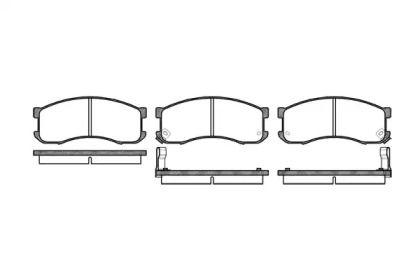 Переднї гальмівні колодки на MAZDA MPV 'ROADHOUSE 2313.02'.