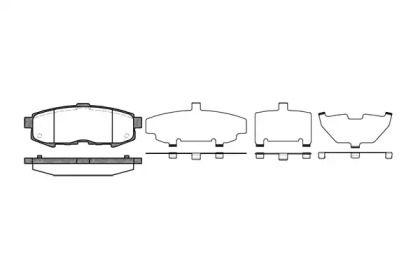 Заднї гальмівні колодки на MAZDA MPV 'ROADHOUSE 21160.00'.
