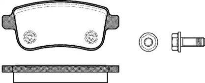 Задние тормозные колодки 'ROADHOUSE 21387.00'.