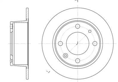 Задний тормозной диск на CITROEN BX 'ROADHOUSE 6021.00'.
