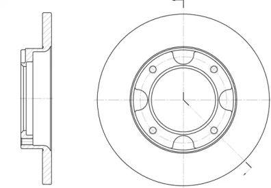 Передний тормозной диск 'ROADHOUSE 6039.00'.
