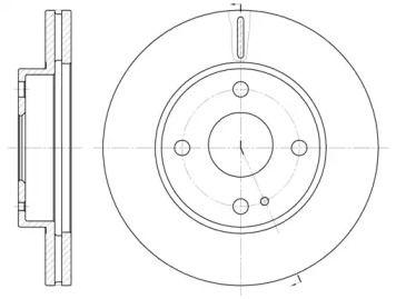 Вентильований передній гальмівний диск на Мазда Деміо ROADHOUSE 6056.10.