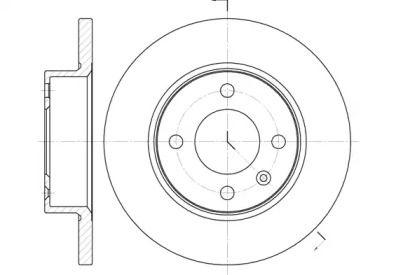 Передний тормозной диск на Шкода Фаворит 'ROADHOUSE 6060.00'.