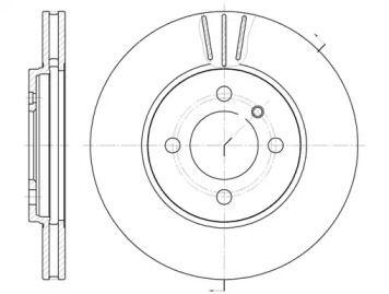 Вентилируемый передний тормозной диск на БМВ З1 'ROADHOUSE 6062.10'.