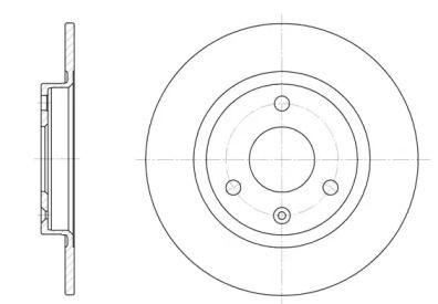 Передний тормозной диск на CITROEN AX 'ROADHOUSE 6070.00'.