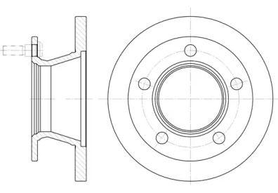 Передний тормозной диск на Мерседес 100 'ROADHOUSE 6082.00'.