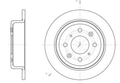 Задний тормозной диск на Ровер Стритвайз 'ROADHOUSE 6083.00'.