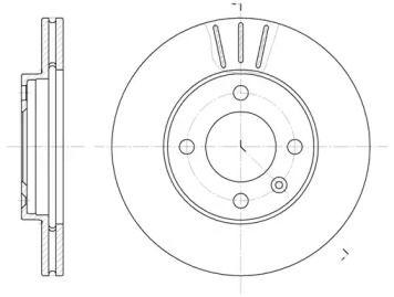 Вентилируемый передний тормозной диск на Ауди 100 'ROADHOUSE 6084.10'.