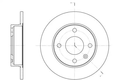 Передний тормозной диск на FORD ESCORT 'ROADHOUSE 6094.00'.