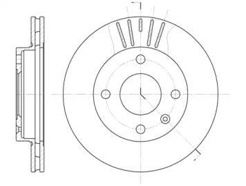 Вентилируемый передний тормозной диск на MAZDA 121 'ROADHOUSE 6096.10'.