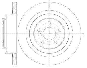Вентилируемый задний тормозной диск на SSANGYONG REXTON 'ROADHOUSE 61001.10'.