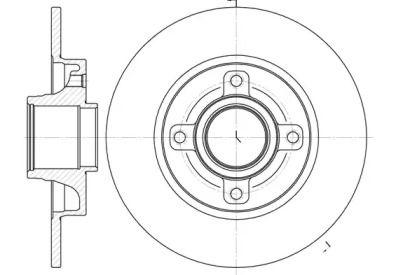 Задний тормозной диск на Ситроен С4 Гранд Пикассо 'ROADHOUSE 61014.00'.