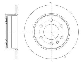 Задний тормозной диск на Фольксваген Крафтер 'ROADHOUSE 61035.00'.