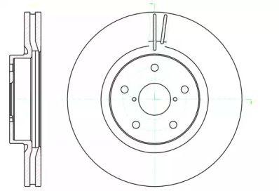 Вентилируемый передний тормозной диск на SUBARU TRIBECA 'ROADHOUSE 61041.10'.