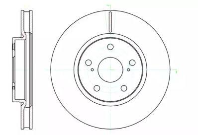 Вентилируемый передний тормозной диск на LEXUS IS 'ROADHOUSE 61076.10'.