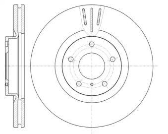 Вентилируемый передний тормозной диск на Инфинити Джи 'ROADHOUSE 61086.10'.