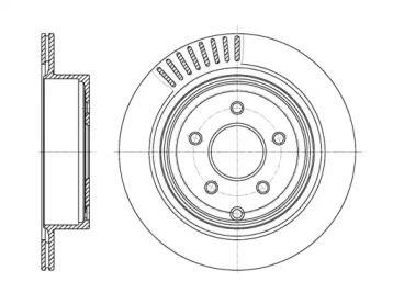 Вентилируемый задний тормозной диск на INFINITI FX 'ROADHOUSE 61091.10'.
