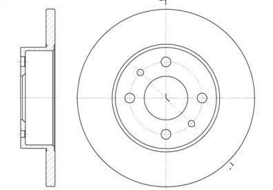 Передний тормозной диск на Фиат Дюна ROADHOUSE 6111.00.