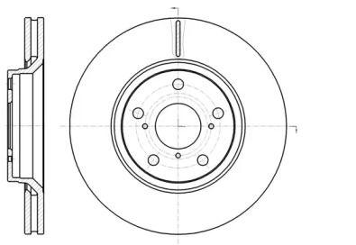 Вентилируемый передний тормозной диск на Тайота Версо 'ROADHOUSE 61121.10'.