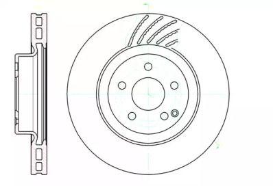 Вентилируемый передний тормозной диск на MERCEDES-BENZ GLK 'ROADHOUSE 61142.10'.
